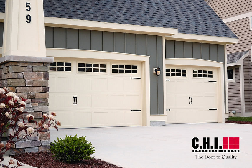 Garage Door 52xx With Stockton Windows Almond Door Doctor