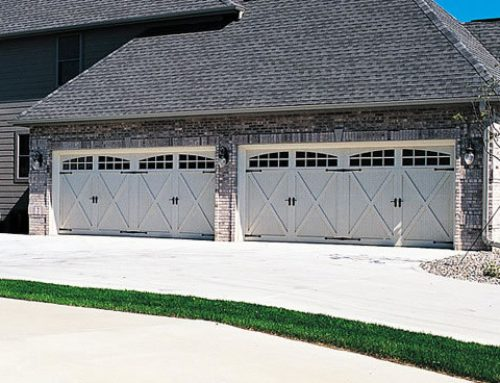 Garage Door U2013 5534A With 2 2 Piece Arched Stockton Windows, Almond