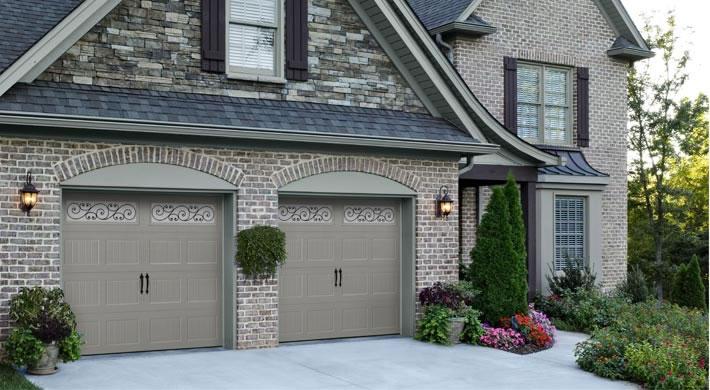 Garage Door Bead Board With Trellis Windows Blue Ridge