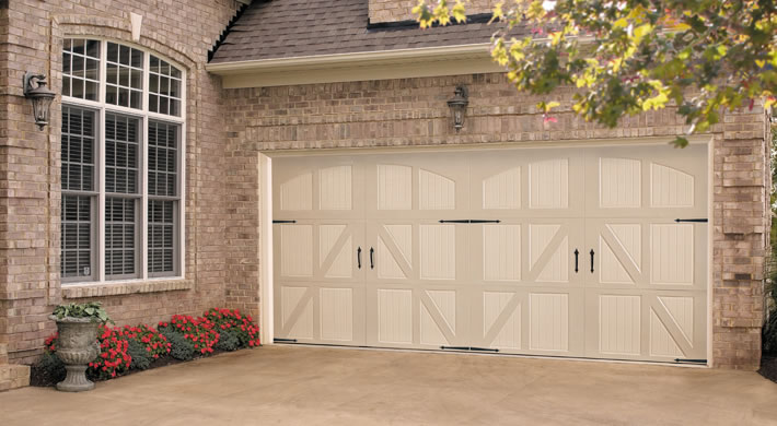 Garage door lucern with closed arch versailles handles for Garage versailles 44