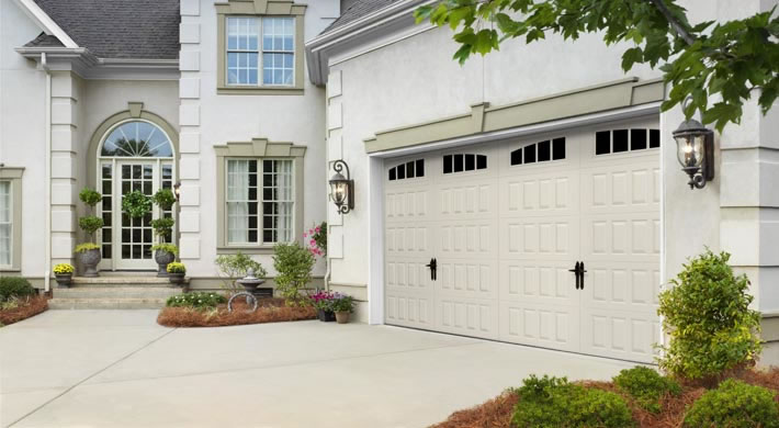 Raised Panel with Arched Thames Windows Alpine Handles Almond & Garage Door - Raised Panel with Arched Thames Windows Alpine ... pezcame.com
