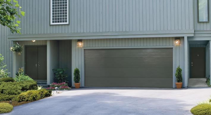 Garage door traditional flush panel custom painted door doctor