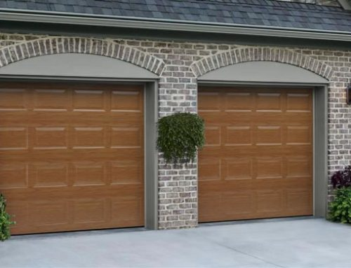 Garage door traditional flush panel custom painted for Flush panel wood garage door