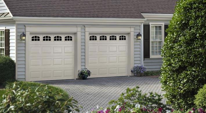 Garage Door Traditional Short Panel With Cascade Windows