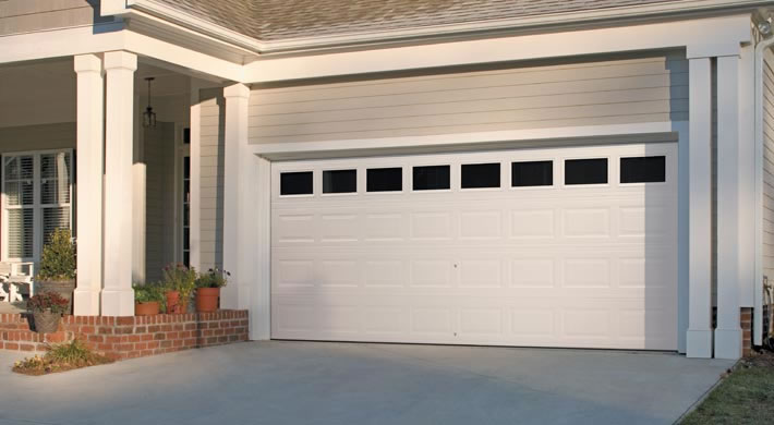 Garage Door Traditional Short Panel With Clear Windows