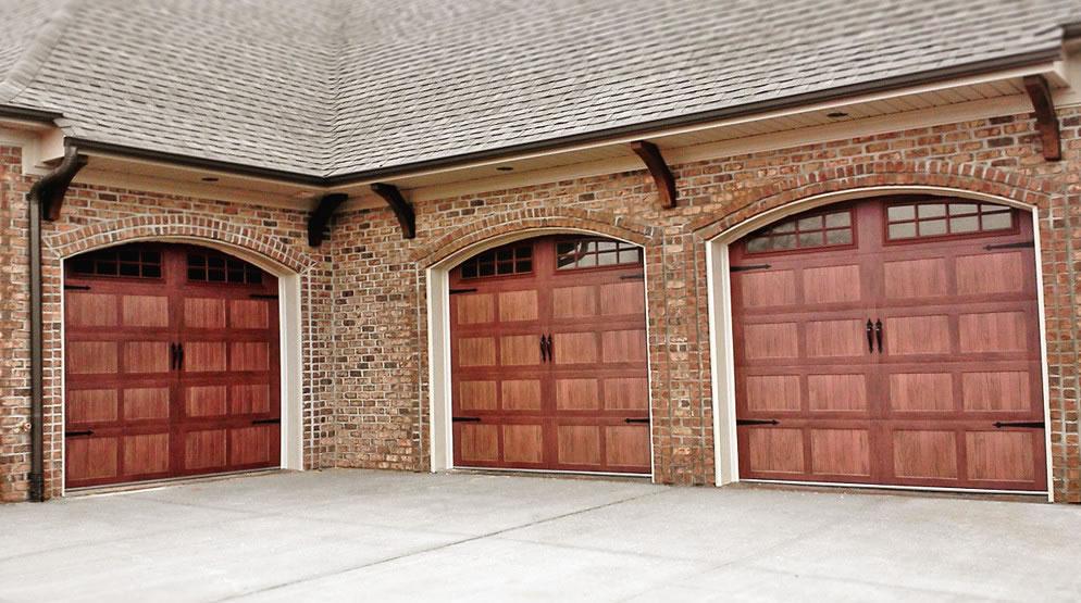Garage Door 52xx With Arched Stockton Windows Dark Oak Door Doctor