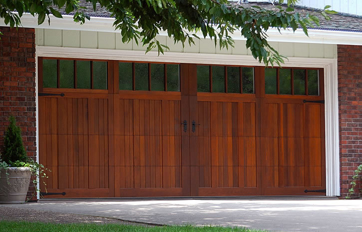 Garage door 5330a with arched madison windows field for Stained garage doors