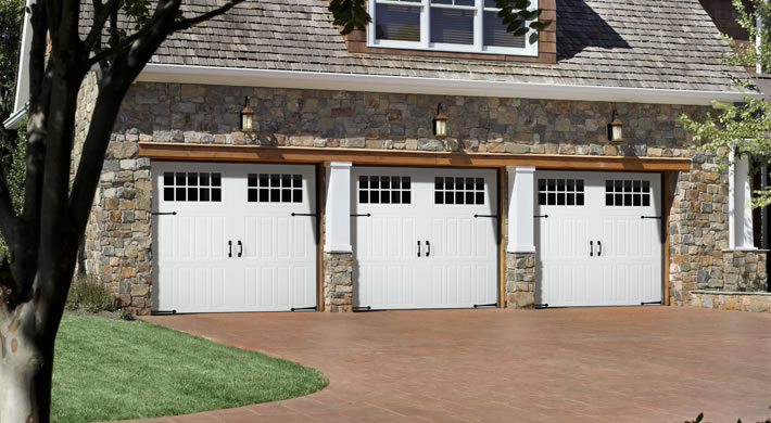 Bordeaux with Madeira Windows, Canterbury Handles and Hinges, White