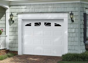 Garage Door Traditional Short Panel With Sunray Windows White