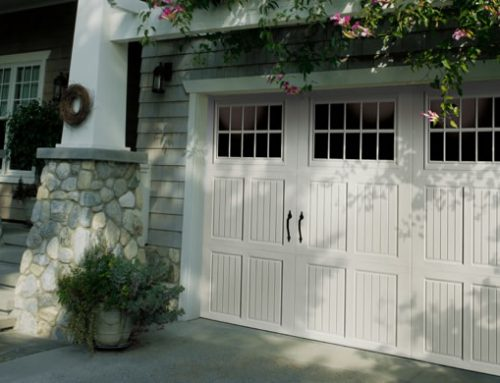 Garage Door – Tuscany with Madeira Windows, Blue Ridge Handles, White